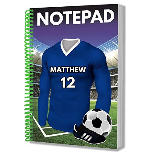 Regalo personalizzato – maglia da calcio – blocco note A5 – taccuino – compleanno – Natale – regalo segreto – qualsiasi colore della squadra Leicester City