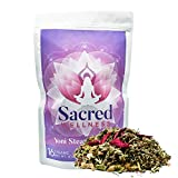 Sacred Wellness Yoni Steaming Herbs (Large 8 Ounces) - A Yoni Steam Kit (16 Steams) for Feminine Health, Detox Cleanse, V Therapy - A Natural Fertility Blend Treatment.