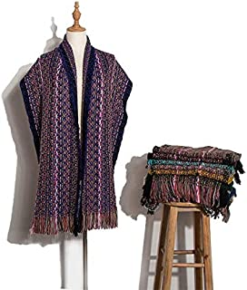 VIOAPLEM VIOAPLEM Gift Winter Gradient Ethnic Wind Scarf Fashion Travel Warm Shawl Women