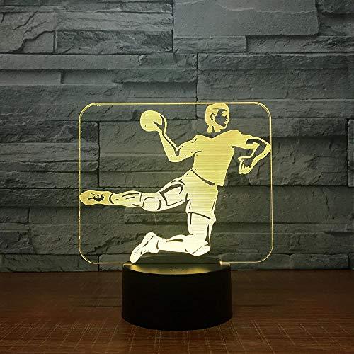 Handball 3D Led Lampe 7 Farbe Nachtlampen Für Kinder Tischlampe Baby Schlafzimmer Lampe Fernbedienung