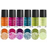 Maniology Tropix Creamy Summer Fashion Highly-Pigmented Creative Nail Art Stamping Polish Full Collection - Set of 6