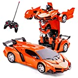 Highttoy Remote Control Transformer Car, Birthday Gifts for Girls 5-12 Year Old 2