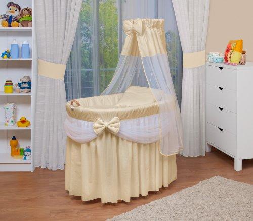 WALDIN Baby Stubenwagen-Set mit Ausstattung, XXL, Bollerwagen,komplett, 6 Modelle wählbar,beige/gelb/weiß