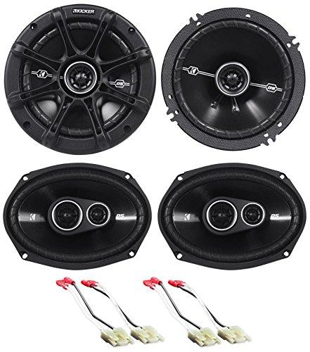 """Package: Pair of Kicker 41DSC6934 6x9"""" D-Series 3-Way Car Speakers Totaling 720 Watt Peak/180 Watt RMS + Pair of Kicker 41DSC654 6.5"""" D-Series 2-Way Car Speakers Totaling 480 Watt Peak/120 Watt RMS"""