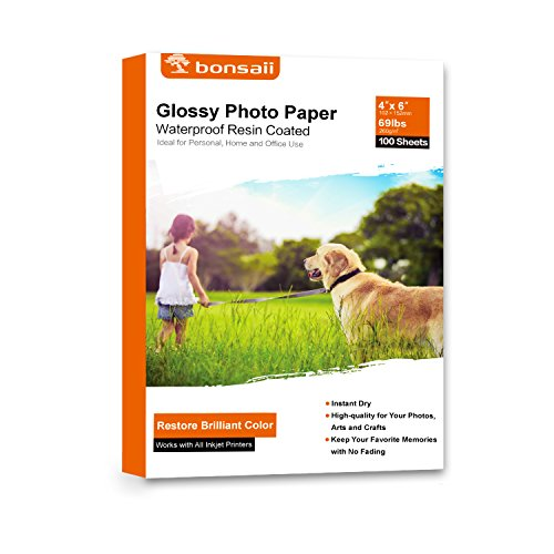 Bonsaii Glossy Photo Paper,4x6 Inches,100 Sheets