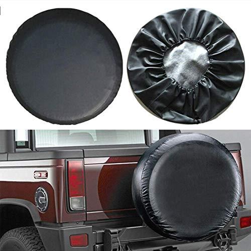YUNB 14 Zoll Wasserdichter Sonnenschutz Reifenabdeckung Reserveradabdeckung Leder für Caravan Reifen