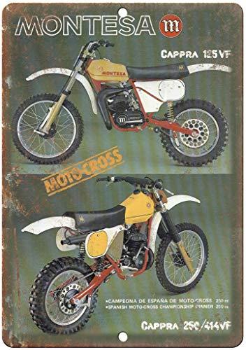 Montesa Cappra Motocross Póster De Pared Metal Retro Placa Cartel Cartel De Chapa Vintage Placas Decorativas Poster por Café Bar Garaje Salón Dormitorio