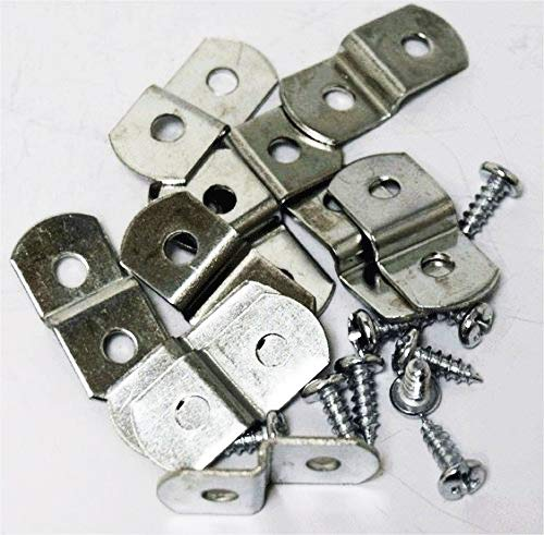 Extra Heavy Duty 1/8' Canvas Offset Clips with Screws 20 Pack