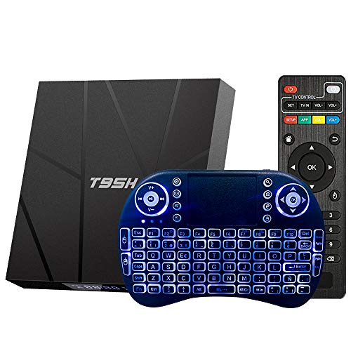 Android TV Box 10.0 2GB 16GB Decodificador Smart TV Box H616 USB 2.0 1080P Ultra HD 4K 6K HDR WiFi 2.4GHz Reproductor Multimedia de Transmisión con Mini Teclado Inalámbrico Retroiluminado