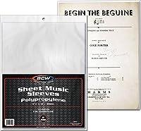 "BCW Sheet Music Sleeves 2-mil Polypropylene 9-3/8"" x 12-1/4"" (100-Count) [並行輸入品]"