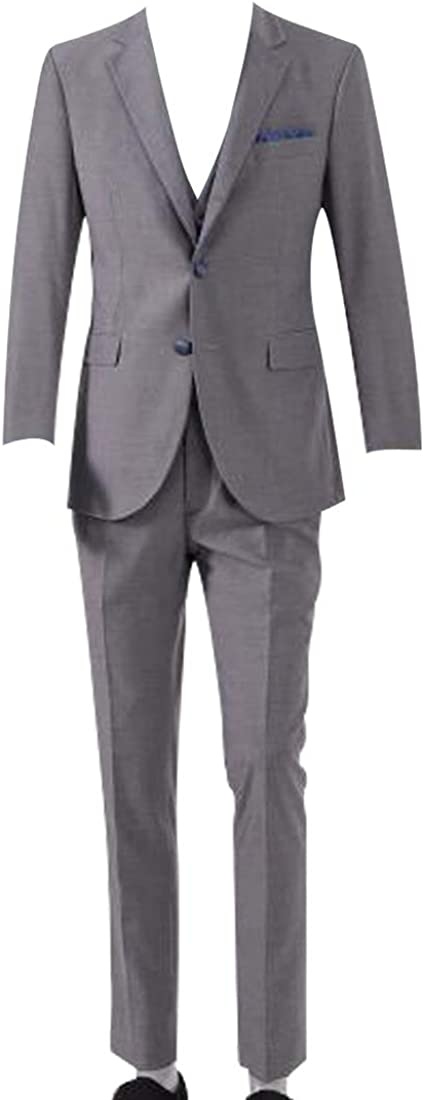 HBDesign Mens Gray Edging San Antonio Mall Jacket+Pants Two-Piece Max 57% OFF Suit
