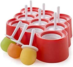 FKou Silicone Mini Ice Pops Mold Ice Cream Ball Lolly Maker Popsicle Molds With 9 Sticks