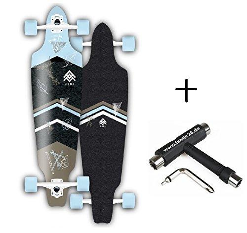 Rune Longboard komplett mit BOLZEN Achsen (Caladbolg Longboard #1 96cm + Fantic26 Skatetool)