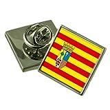 Select Gifts Aragón Bandera Insignia de Solapa de Plata Maciza 925