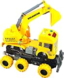 FunBlast Rubber 4wd Monster Construction Truck, Pack Of 1, Multicolour