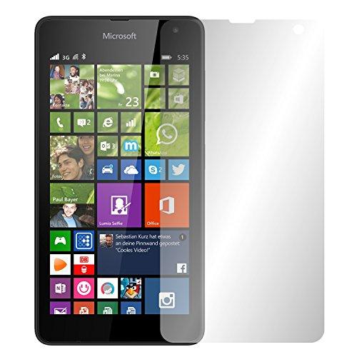 Slabo 2 x Displayfolie für Microsoft Lumia 535 Displayschutzfolie Zubehör Crystal Clear KLAR