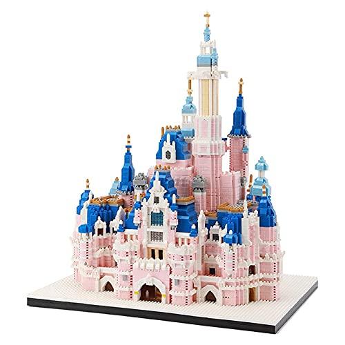 LGH Micro Nano Mini-Blöcke Modellbauset der Disney Castle-Serie, 6300-teiliges Mini-Ziegel-Spielzeug, Geschenk für Erwachsene und Kinder