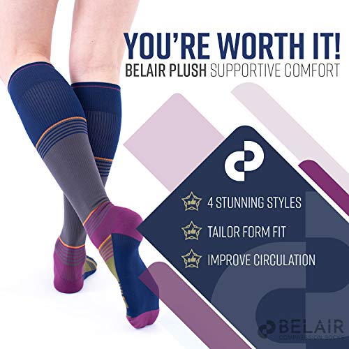 Women's Maternity Compression Socks   Pregnancy Stocking Graduated Form Fit - Reduce Foot/Leg Pain from Swelling, Promote Circulation, Prevent Varicose Veins