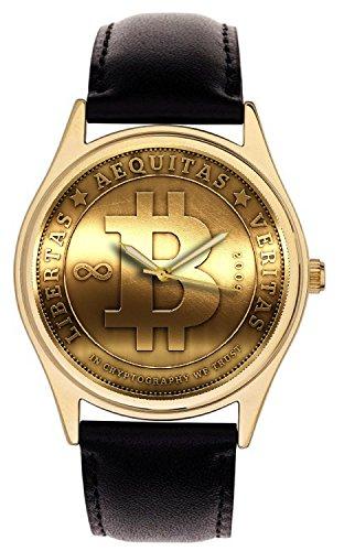 Bitcoin Token Gold Medallion Pergamena QUADRANTE Collezionabile 40 mm In...