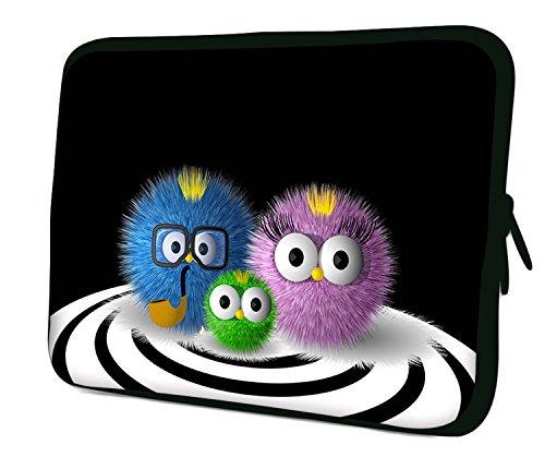 Luxburg–Nuevo diseño Funda Blanda de Neopreno Bolsa para 14Pulgadas portátil/portátil/Tablet–de Erizo Familia