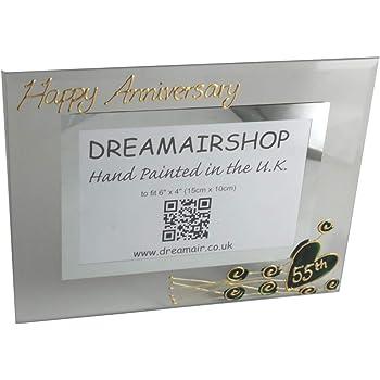 Wedding Photo Frame: L 55th Year B//S Emerald
