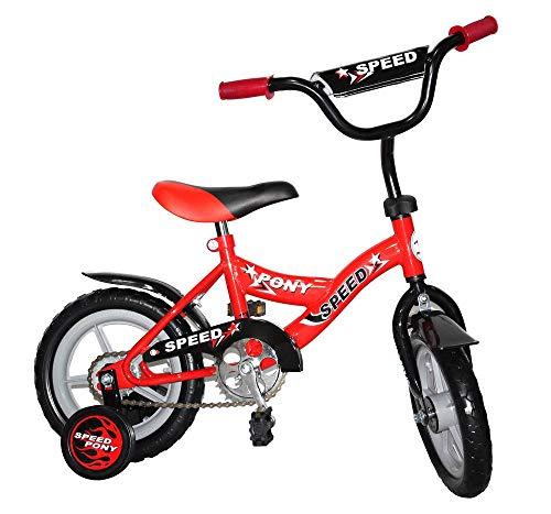 UrbanFit Pro Bicicleta Niño Rodada 12 Ruedas Entrenadoras Infantil – Rojo