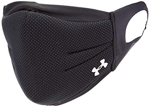 Under Armour Adult Sports Mask , Black (002)/Silver Chrome , Large/X-Large