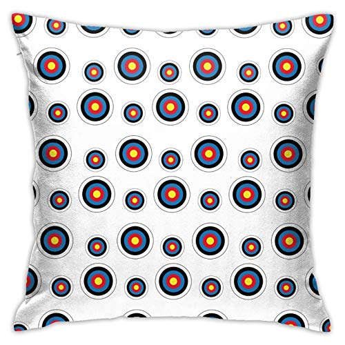 NiYoung Pillow Decorative Rectangle Cushion Cover Autumn Pillow Covers Fall Home Decor Pillow Case for Home Sofa Bedroom Livingroom (18x18 Inch), Archery Target Colorado Circular