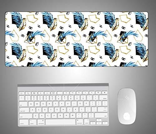 ZHANGBAOWEN muismat, extra grote muis, padmodern toetsenbord, laptop, kussen, bureau, mat, gamer, muismat, mat, groot bureau, computer, schrijftafel, mat