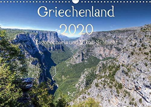 Griechenland 2020 - Zagorochoria und Vikos-Schlucht (Wandkalender 2020 DIN A3 quer): Griechenlands grüner Nordwesten in Bildern (Monatskalender, 14 Seiten ) (CALVENDO Orte)