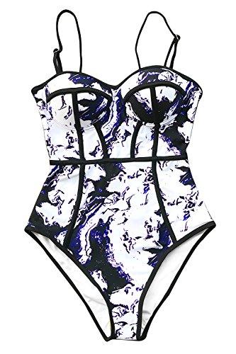 CUPSHE Women's Dream Spark Tie-dye One-Piece Swimsuit Beach Swimwear Bathing Suit Large