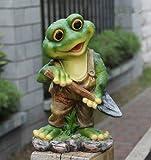 Design Frosch 29 cm Hoch 11151 Deko Garten Gartenzwerg Figuren Dekoration (Design 1)