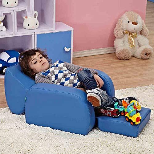 HAKN Le sofa des enfants, chaise mignonne de sofa de bébé peut dormir et peut s'asseoir et être lavable (Couleur : Multicolore)