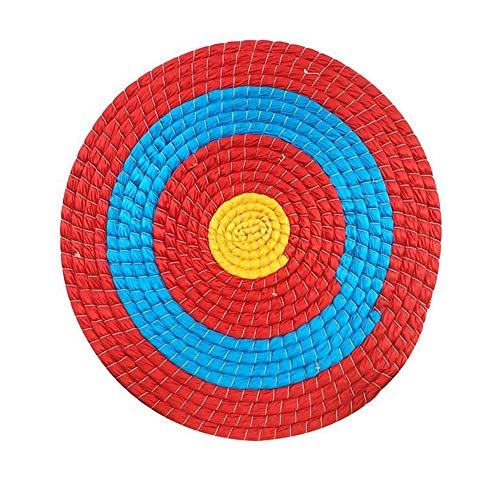 CHRISTY HARRELL Christmas Harrel Outdoor Sport-Werkzeug, 55 x 2 cm Pfeil Zielscheibe, Handarbeit, massives Stroh Bogenschießen Zielscheibe für Bogenschießen, Recurve Bogen Longbow oder Compound Bogen