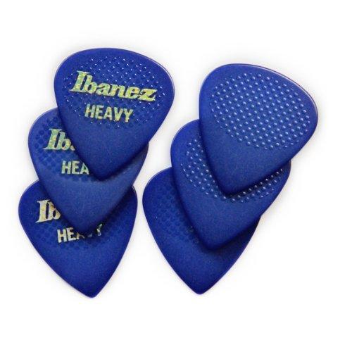 Ibanez BPA16HR-BL Grip Wizard Serie - Plektren Gummigrip Heavy (6 Stück) blau
