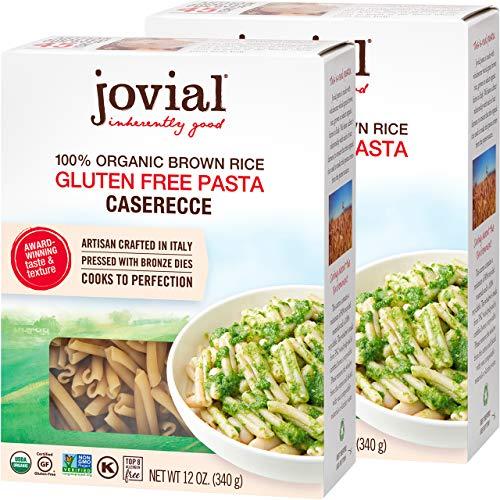 Jovial Caserecce Gluten-Free Pasta   Whole Grain Brown Rice Caserecce Pasta   Non-GMO   Lower Carb   Kosher   USDA Certified Organic   Made in Italy   12 oz (2 Pack)