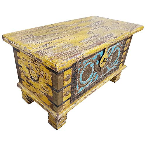 Indoortrend.com Truhe Kiste Holztruhe Box 80 Vintage Massiv Shabby Chic aus Handarbeit Unikat 7 - 2