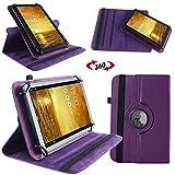 UC-Express Schutz Tasche für Asus MeMo Pad 7 ME572C ME572CL Hülle Tablet Schutzhülle Cover, Farben:Lila