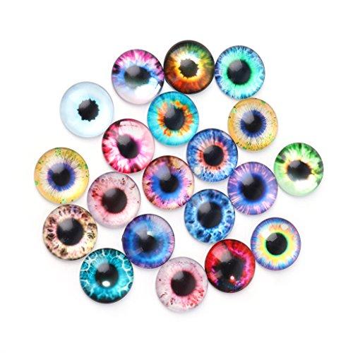 YiFeiCT 20 Stück Glaspuppen Augen DIY Handwerk Tieraugen Schmuck Zubehör 10/16/20 mm 10 mm a