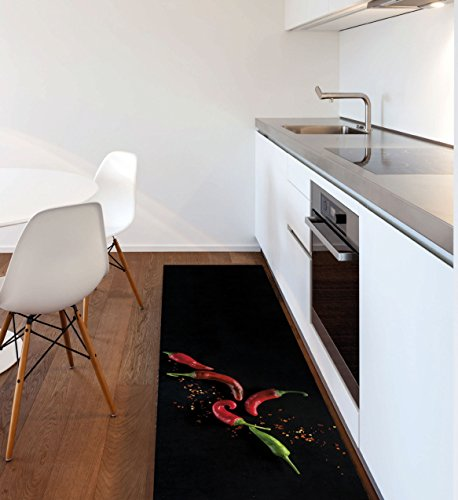 tappeto cucina nero moderno Viva