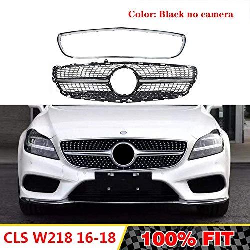 HYNB Diamonds Grill Auto Frontgrill Voor Mercedes Benz CLS Klasse W218 Facelift Sedan CLS300 CLS350 CLS450 CLS500 2015-2018, Zwart, Zwart