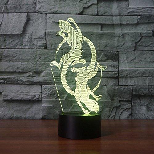 3D Gecko Lampe USB Power 7 Farben Amazing Optical Illusion 3D wachsen LED Lampe Formen Kinder Schlafzimmer Nacht Licht