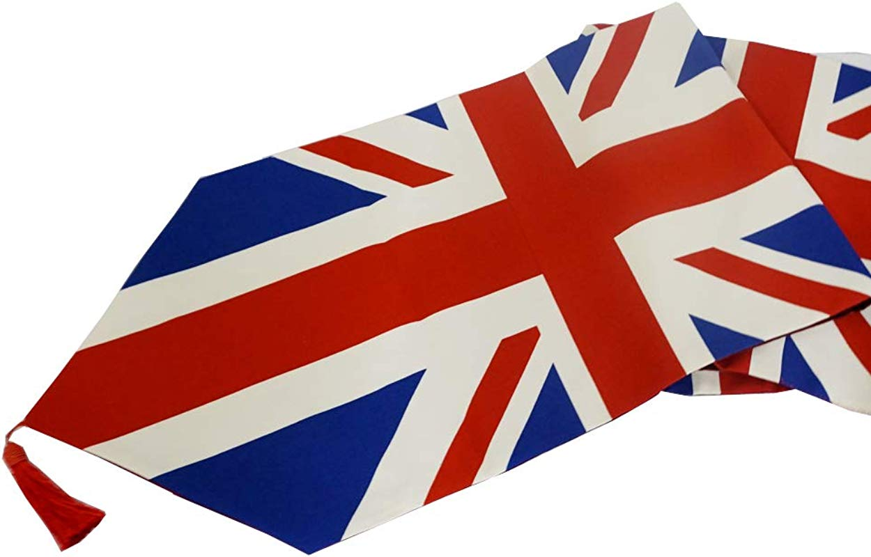 Colorfulife Table Runner The British Flag Cotton Yarn Dyed Soft Boutique Art Jacquard Design Decoration Mat Table Cloth 13 X71 1 Table Runner