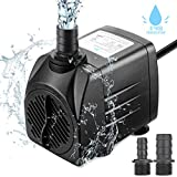 Zaeel mini pompe  eau, Submersible pompe  eau 25w 1800L/H 220V 1.5m Submersible 3 Buses Brushless Moteur Pompe Ajustable pour les Fontaines de Table Aquarium Pond Water Gardens et Hydroponic Systems