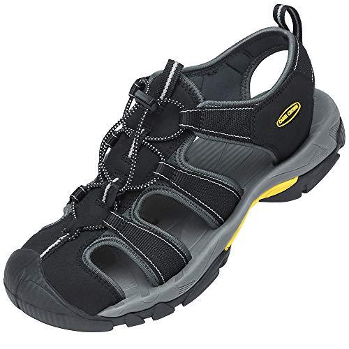CAMEL CROWN Herren Outdoor Sports Sandalen Waterproof Wandersandale Trekkingsandalen Geschlossene Sandale Sommer Männer Fischer Strand Schuhe Klettverschluss