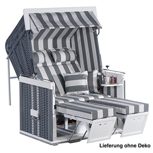 Sonnenpartner Strandkorb Präsident 2 Sitzer Liegemodell onix/grau 70057512/70
