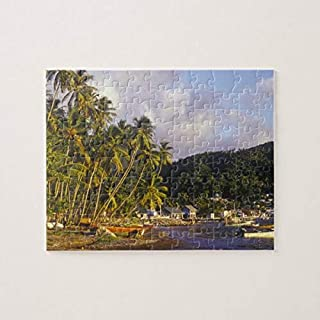 Fishing Boats, Soufriere, St Lucia, Caribbean 500 Pieces Jigsaw Puzzle, Puzzles for Adults and Kids Jigsaw Puzzle Intellec...