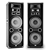 AUNA PA-2200 Set Altoparlanti Audio Fullrange 2x12