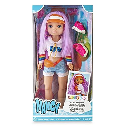Nancy, un día de Festival, muñeca con Pelo de Color y Accesorios para niños y niñas a Partir de 3 años (Famosa...