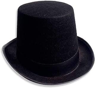 Flosky Men Women Retro Magician Black Jazz Cap Halloween Felt Top Hat DIY Steampunk Masquerade Dress Up Party Cosplay Costume Props